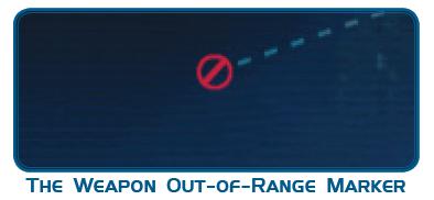 Цель находится вне досягаемости\радиуса поражения орудий