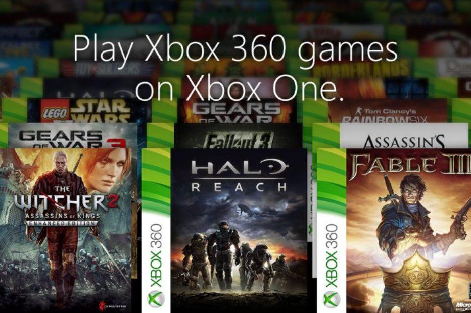 Игры от Xbox One можно будет играть в Xbox 360