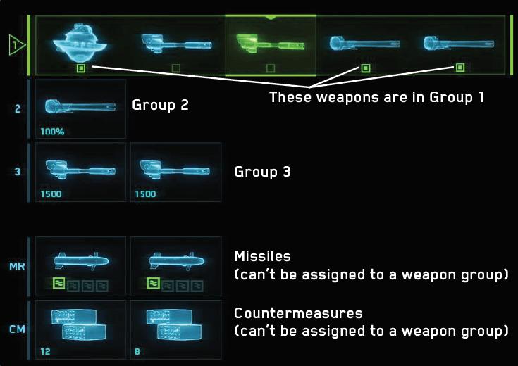 Режим конфигурирования орудий