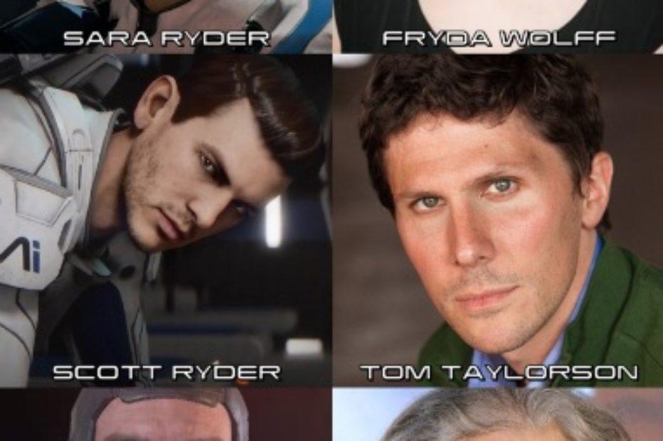 Актёры которые озвучивают персонажей Mass Effect Andromeda