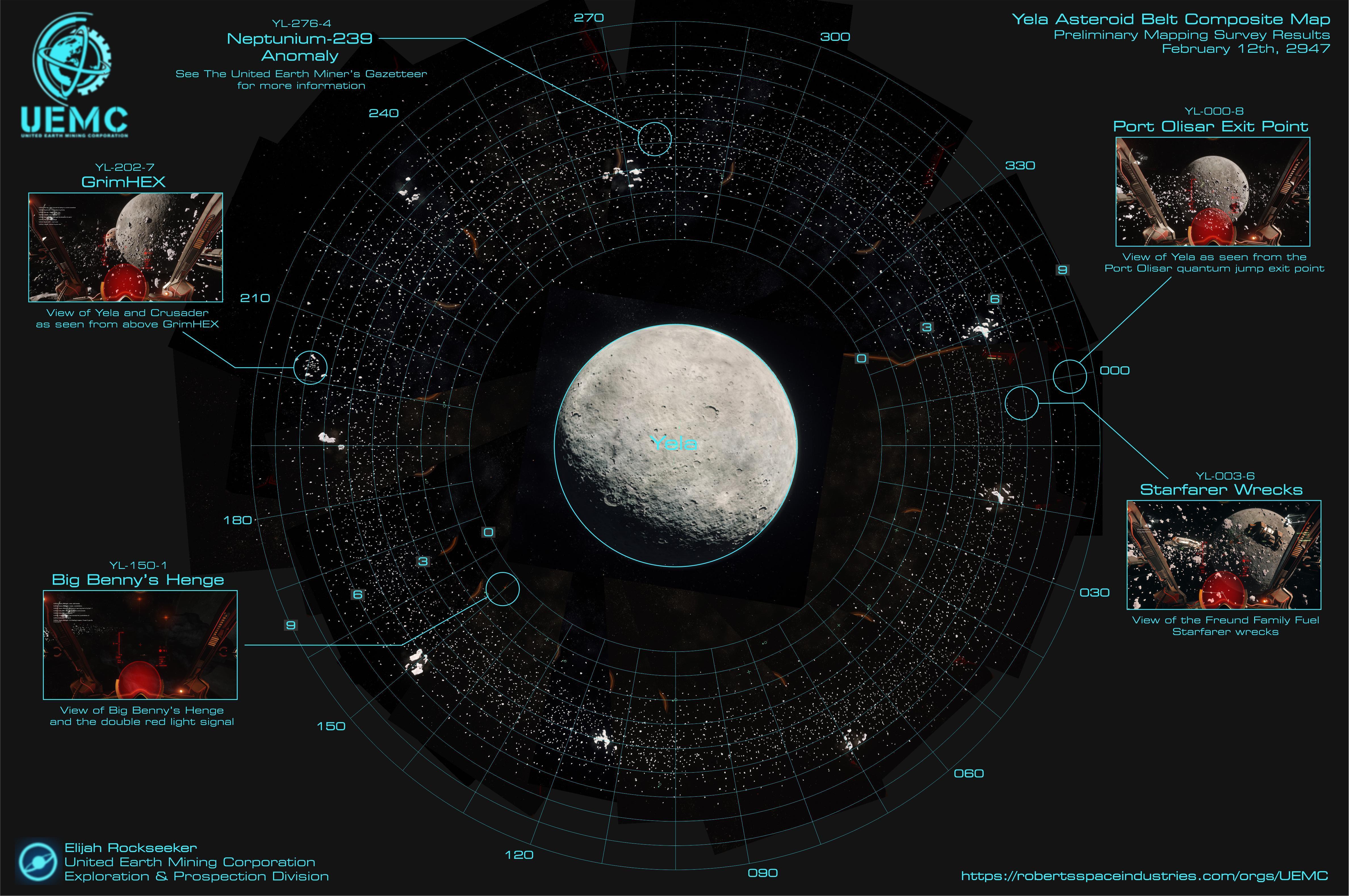 Карта спутника Yela