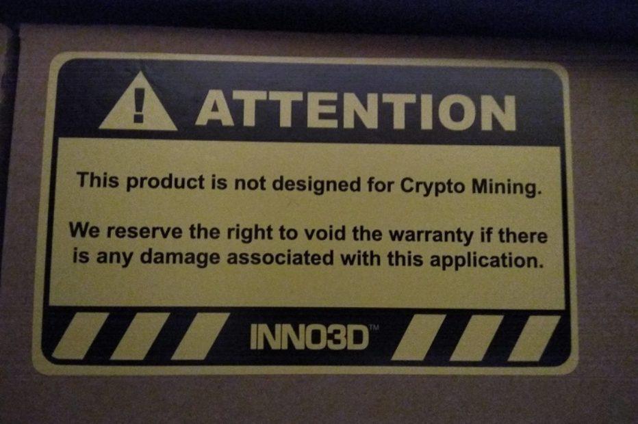 Inno3D предупреждает майнеров о возможном аннулировании гарантии на видеокарты