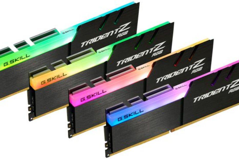 G.Skill представила 32-Гбайт комплект модулей памяти Trident Z RGB DDR4-4266