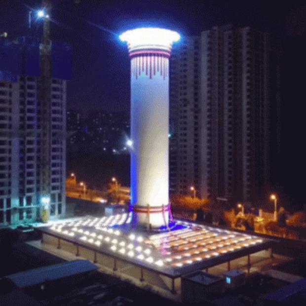 В Китае заработал гигантский очиститель смога на солнечной энергии