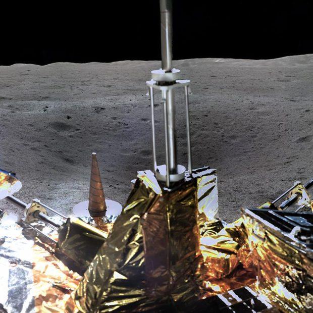Видео посадки лунохода