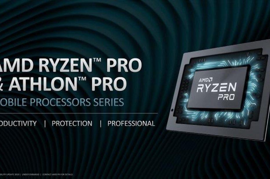 AMD представила новые APU Ryzen Pro и Athlon Pro для ноутбуков